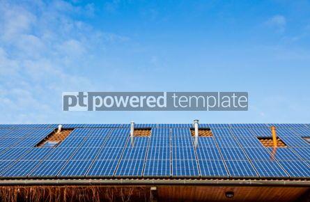 Architecture : Solar panels on the roof of building #05636