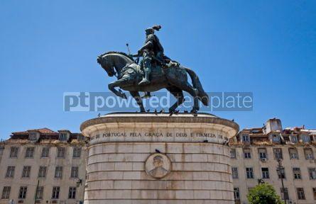 Architecture : Equestrian Statue of Dom Joao I in Lisbon Portugal #05643