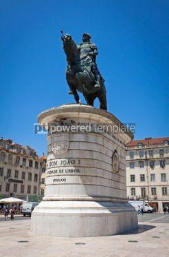 Architecture : Equestrian Statue of Dom Joao I in Lisbon Portugal #05644
