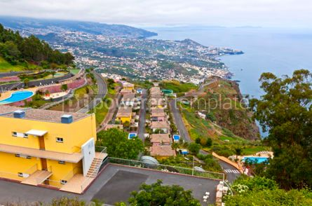 Architecture : Atlantic Ocean coast on Madeira island Portugal #05645