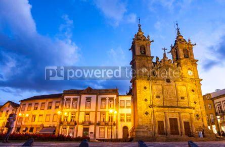 Architecture: Holy Cross Church (Igreja de Santa Cruz) in Braga city Portugal #05647