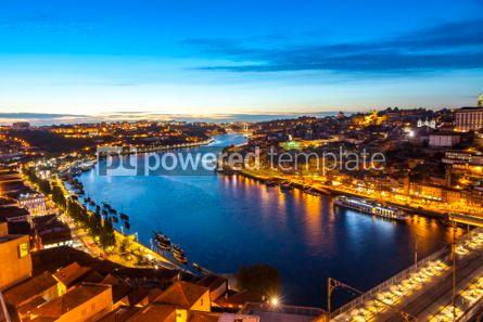 Architecture : Evening view of Porto city and Douro river Portugal #05649