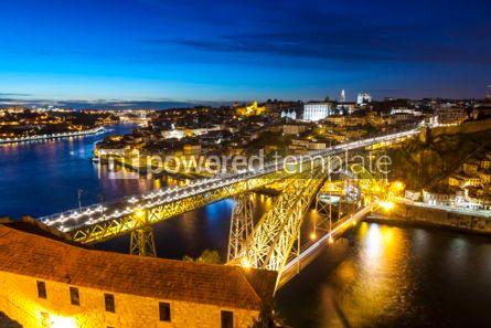 Architecture : Evening view of Porto city and Douro river Portugal #05650