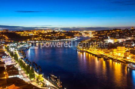 Architecture : Evening view of Porto city and Douro river Portugal #05651