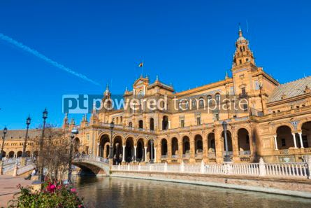 Architecture : Plaza de Espana (Spain Square) in Seville Andalusia Spain #05655