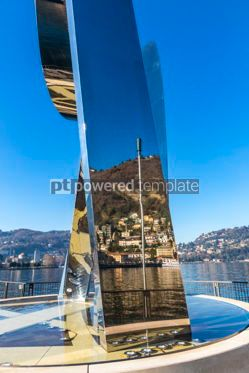Architecture : Sculpture Life Electric on Lake Como Como city Lombardy Italy #05659