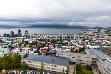 Architecture : Aerial view of Reykjavik city Iceland #05661