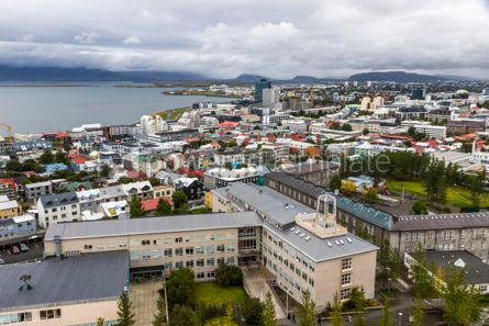 Architecture : Aerial view of Reykjavik city Iceland #05662