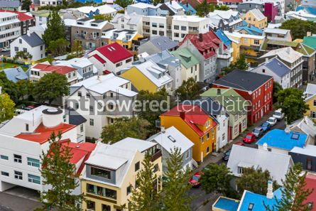 Architecture : Aerial view of Reykjavik city Iceland #05663