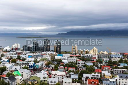 Architecture : Aerial view of Reykjavik city Iceland #05665