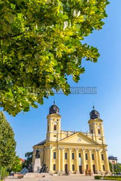 Architecture: Reformed Great Church in Debrecen Hungary #05667