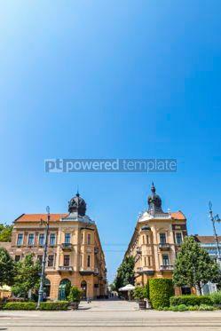 Architecture : Piac utca the major street of Debrecen city Hungary #05669