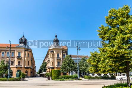 Architecture : Piac utca the major street of Debrecen city Hungary #05670