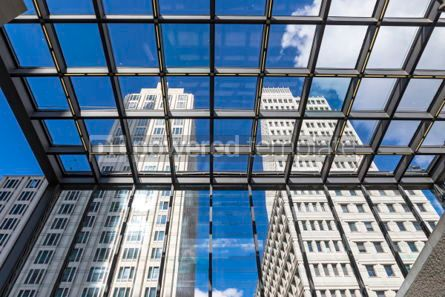 Architecture : Entrance to the Potsdamerplatz Railway Station in Berlin German #05672