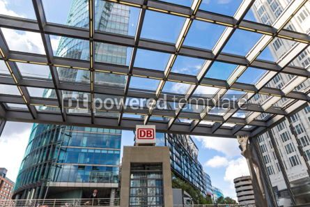 Architecture : Entrance to the Potsdamerplatz Railway Station in Berlin German #05673