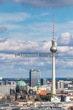 Architecture : Aerial view of Berlin skyline with famous TV tower and Berliner  #05675