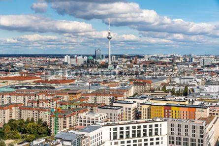 Architecture : Aerial view of Berlin skyline with famous TV tower and Berliner  #05676