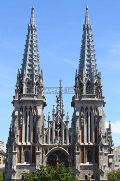 Architecture : St. Nicholas Roman Catholic Cathedral in Kyiv Ukraine #05686
