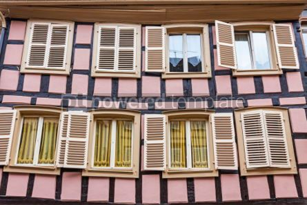 Architecture : Old traditional colorful half-timbered houses in Colmar France #05695