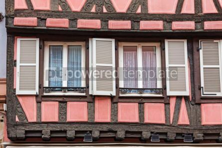 Architecture : Old traditional colorful half-timbered houses in Colmar France #05696