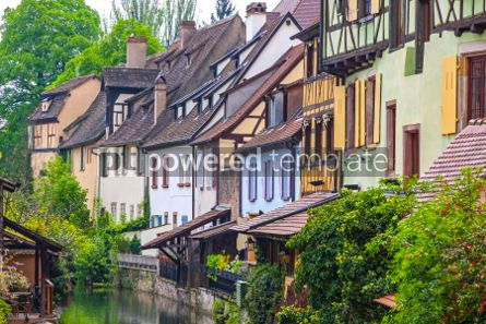 Architecture : Beautiful view of historic town of Colmar Alsace region France #05699