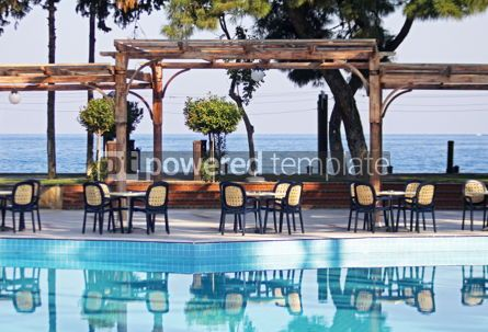 Architecture : Outdoor hotel restaurant at Mediterranean resort #05701
