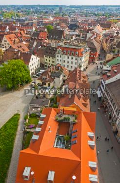 Architecture : Aerial view of Konstanz city Germany #05703