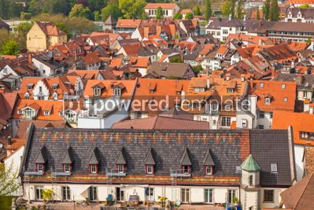 Architecture : Aerial view of Konstanz city Germany #05704
