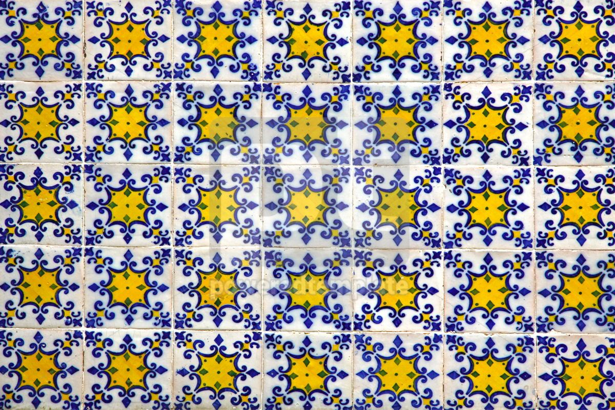 Typical Portuguese old ceramic wall tiles (Azulejos), 05709, Architecture  — PoweredTemplate.com