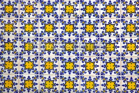 Architecture : Typical Portuguese old ceramic wall tiles (Azulejos) #05709