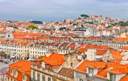 Architecture : Rooftops of Lisbon city Portugal #05712