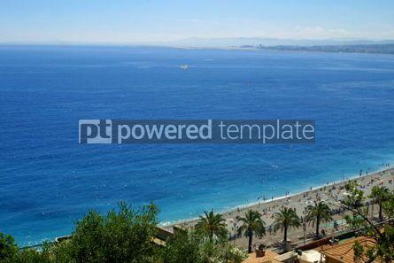 Nature: Mediterranean sea and pebble beach near Promenade des Anglais in #05724