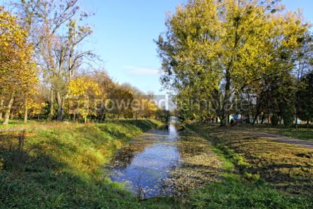 Nature: Central Park of Lutsk city in early autumn #05734