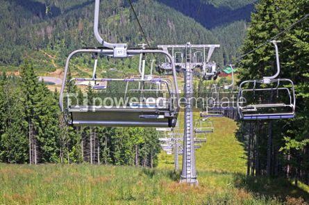 Nature: Ropeway on the mountain of Bukovel ski resort Ukraine #05735