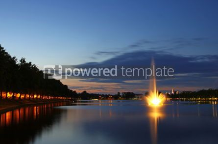 Nature: Pfaffenteich lake in Schwerin city Germany #05740