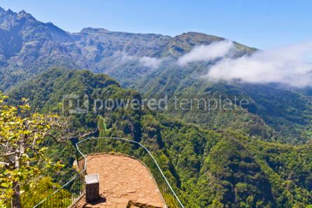 Nature: Aerial panoramic view of mountains on Madeira island Portugal #05765