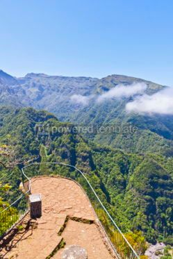 Nature: Aerial panoramic view of mountains on Madeira island Portugal #05766