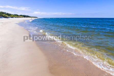 Nature: Sandy beach on Hel Peninsula Baltic sea Poland #05782