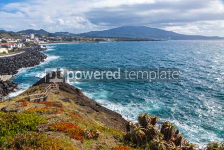 Nature: Ponta Delgada and Atlantic coast on Sao Miguel island Azores P #05787