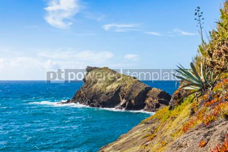 Nature: Atlantic Ocean coast on Sao Miguel island Azores Portugal #05788