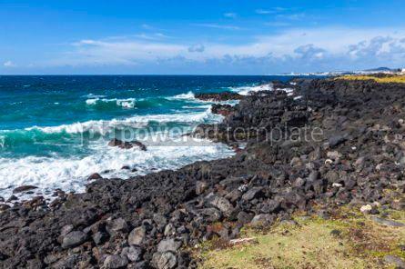 Nature: Atlantic Ocean coast on Sao Miguel island Azores Portugal #05789