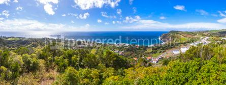 Nature: Picturesque panoramic view of Sao Miguel island Azores Portuga #05790