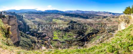 Nature: Panoramic view of valley near Ronda city Andalusia Spain #05798