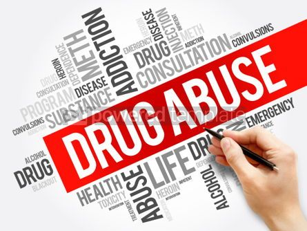 Business: Drug Abuse word cloud collage health concept background #05905