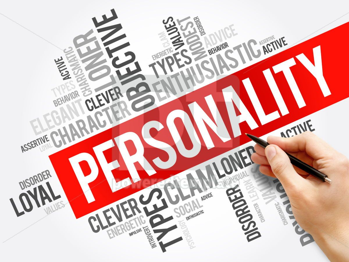 Personality word cloud collage  social concept background, 05912, Business — PoweredTemplate.com