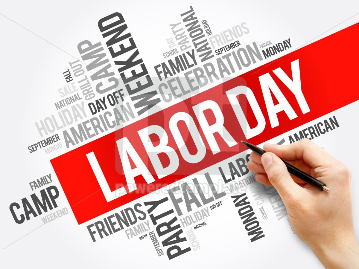 Labor Day word cloud collage holiday concept background, 05916, Business — PoweredTemplate.com
