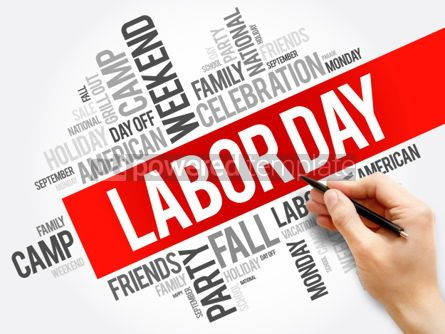 Business: Labor Day word cloud collage holiday concept background #05916