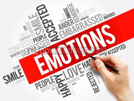 Business: Emotions word cloud collage  social concept background #05917