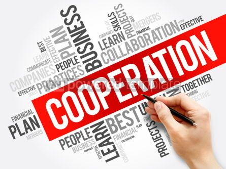Business: Cooperation word cloud collage business concept background #05918