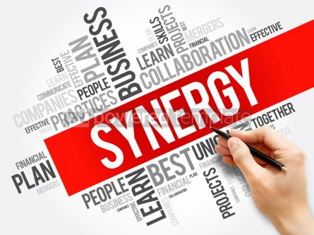 Business: Synergy word cloud collage business concept background #05919